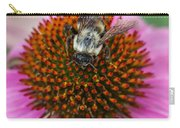 Rudbeckia Coneflower With Bee, Canada Carry-all Pouch