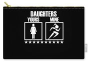 Runner Mom Dad Gift Parent Of Track And Field Daughter Carry-all Pouch