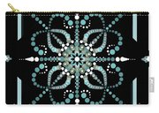 Sacred Circle Design In Blues And White Carry-all Pouch