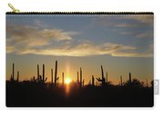 Saguaro Sunset Carry-all Pouch by Jean Clark