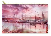 Sailboat Reflections At Sunrise Abstract Carry-all Pouch
