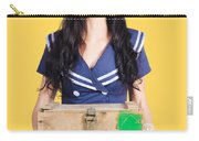 Sailor Pin Up Holding Nautical Supplies Carry-all Pouch