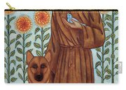 Saint Francis And The Wolf Of Gubbio Carry-all Pouch