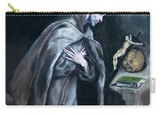 Saint Francis Kneeling In Meditation Carry-all Pouch