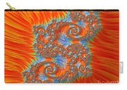 Saint Georges Vanquished Dragon Fractal Abstract Carry-all Pouch by Rose Santuci-Sofranko