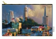 Salesforce Tower Coit Tower Transamerica Pyramid Carry-all Pouch