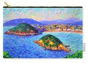 San Sebastian Spain Modern Impressionism Textural Impasto Knife Oil Painting By Ana Maria Edulescu Carry-all Pouch