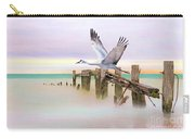 Sandhill Crane And Old Dock Carry-all Pouch
