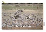 Sandhill Cranes Gather Carry-all Pouch by Jean Clark