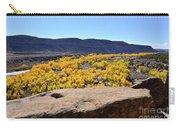 Sandstone Above Golden River Desert Landscape Carry-all Pouch