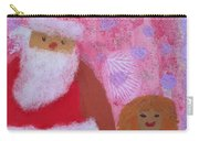 Santa Claus And Guardian Angel - Pintoresco Art By Sylvia Carry-all Pouch