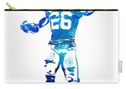 Saquon Barkley New York Giants Water Color Pixel Art 10 Carry-all Pouch