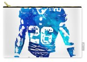 Saquon Barkley New York Giants Water Color Pixel Art 11 Carry-all Pouch