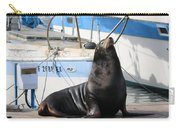 Sea Lion On The Dock  Carry-all Pouch by Christy Pooschke