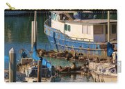 Sea Lion Snuggles  Carry-all Pouch by Christy Pooschke
