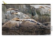 Sea Lions Sleeping On Rock Carry-all Pouch