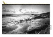 Seashells On The Seashore In Black And White Carry-all Pouch