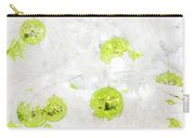 Seasons Greetings - Frosty White With Chartreuse Accents Carry-all Pouch