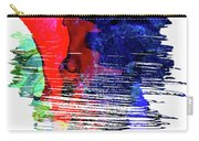 Seattle Skyline Brush Stroke Watercolor   Carry-all Pouch