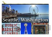 Seattle Washington Waterfront 01 Carry-all Pouch