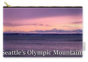 Seattle's Olympic Mountains Carry-all Pouch