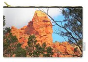 Sedona Adobe Jack Trail Blue Sky Clouds Trees Red Rock 5130 Carry-all Pouch