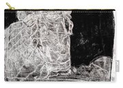 Self In Black Coloured Oil Transfer Drawing 11 Carry-all Pouch