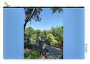 Self Portrait 20 - Aligned With A Half Moon Over Downtown Austin At Zilker Botanical Garden Carry-all Pouch