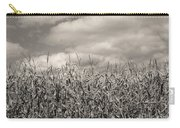 Sepia Field Of Corn Carry-all Pouch