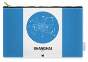 Shanghai Blue Subway Map Carry-all Pouch