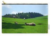Sheep And Lambs In A Field Carry-all Pouch