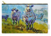 Sheep And Lambs In Bright Sunshine Carry-all Pouch