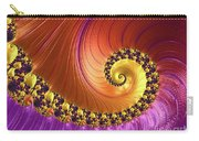 Shiny Purple And Gold Spiral Carry-all Pouch