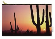 Silhouette Of Saguaro Cacti Carnegiea Carry-all Pouch