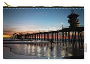 Silhouette Of Surfer At Huntington Carry-all Pouch