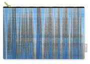 Silver Blue Plaid Abstract #4 Carry-all Pouch by Patti Deters