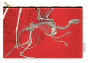 Skeleton Dragon With Red Carry-all Pouch