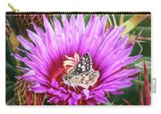 Skipper On Cactus Bloom Carry-all Pouch