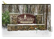 Sky Valley Georgia Welcome Sign In The Snow Carry-all Pouch