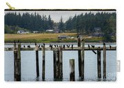 Small Village Along The Columbia River Carry-all Pouch by Mae Wertz