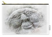 Smiling Stone Face Carry-all Pouch