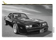 Smokey And The Bandit Trans Am In Mono Carry-all Pouch