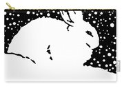 Snow Bunny Rabbit Holiday Winter Carry-all Pouch