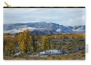 Snow Falls On Autumn Carry-all Pouch