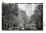 Snow In The City Carry-all Pouch by Alison Frank
