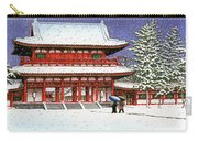 Snow In The Heianjingu Shrine - Digital Remastered Edition Carry-all Pouch