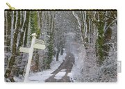 Snow In The Trees Carry-all Pouch
