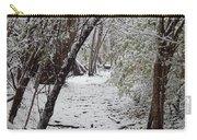 Snow In The Woods Carry-all Pouch