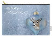 Snowy Deer Ornament Christmas Image Carry-all Pouch