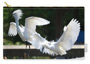 Snowy Egrets Drama Carry-all Pouch